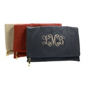 Luxe Foldover Clutch-Monogrammed Luxe Foldover Clutch