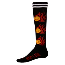 Zany Flaming Softball Athletic Socks-crazy flaming softball socks