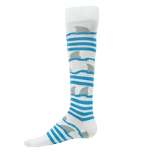 Zany Shark Athletic Socks-zany softball socks shark attack