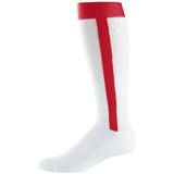 Stirrup Baseball/ Softball Athletic Socks-Red stirrup softball/baseball socks