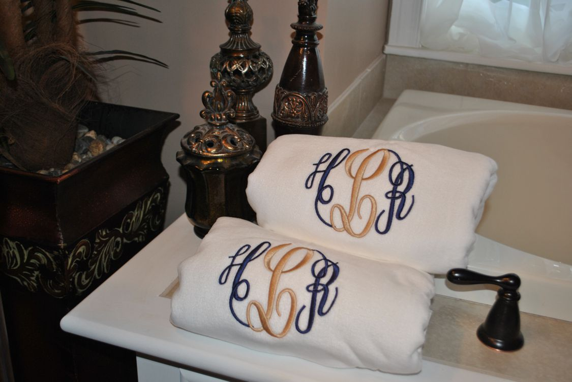 Luxurious Bath Towels Personalized Towel Monogrammed