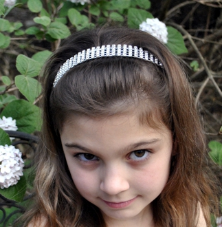 Rhinestone Design Head Band- five line-Five Line Rhinestone Design Head Band, first communion headbands rhinestone, flower girl rhinestone headbands