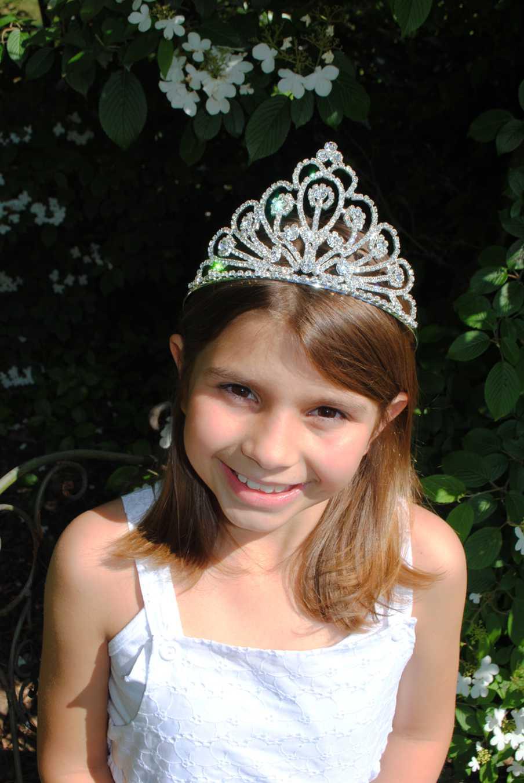 Rhinestone Big Tiara-Rhinestone tiara, first communion veil, flower girl tiara