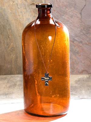 Necklace- Silver token cross- Hope-silver token cross necklace ,sentiment hope, natural life