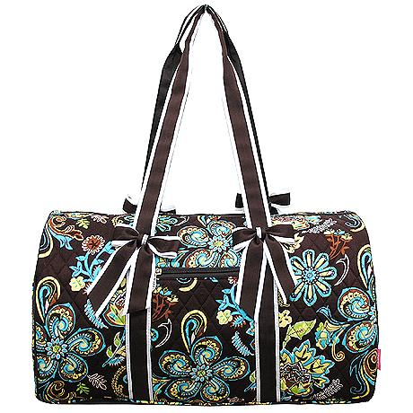Quilted Overnight Duffle Bag Paisley Flower Signature