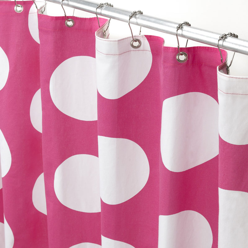 Pinch Pleated Sheer Curtains Polka Dot Beach