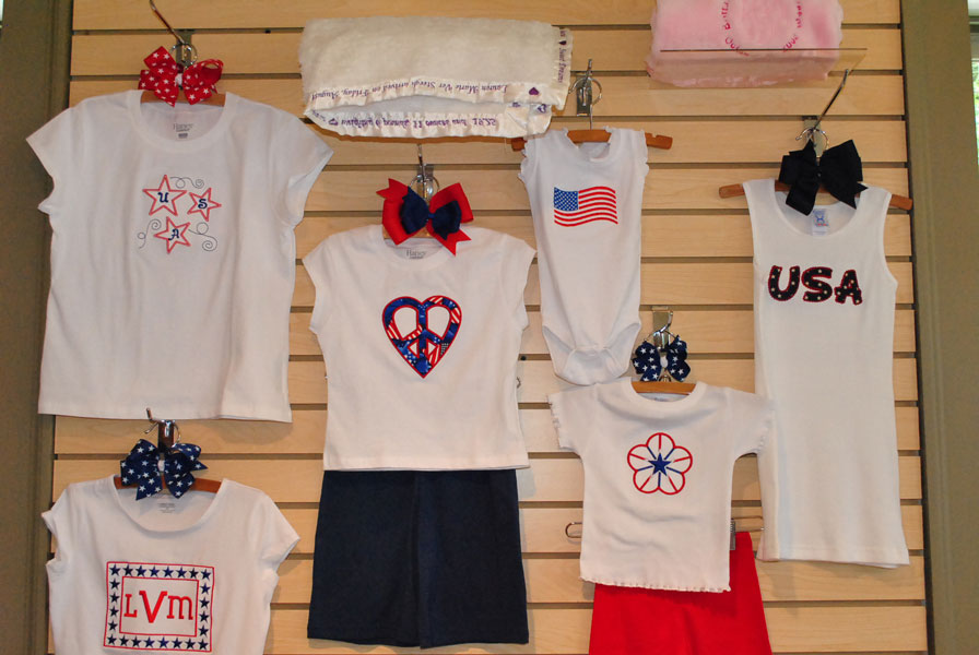 Patriotic Tee-Embroidered T-shirt, Holiday applique shirts, Personalized T-shirts, custom made boutique tees, patriotic tee, monogrammed 4th of july tshirt