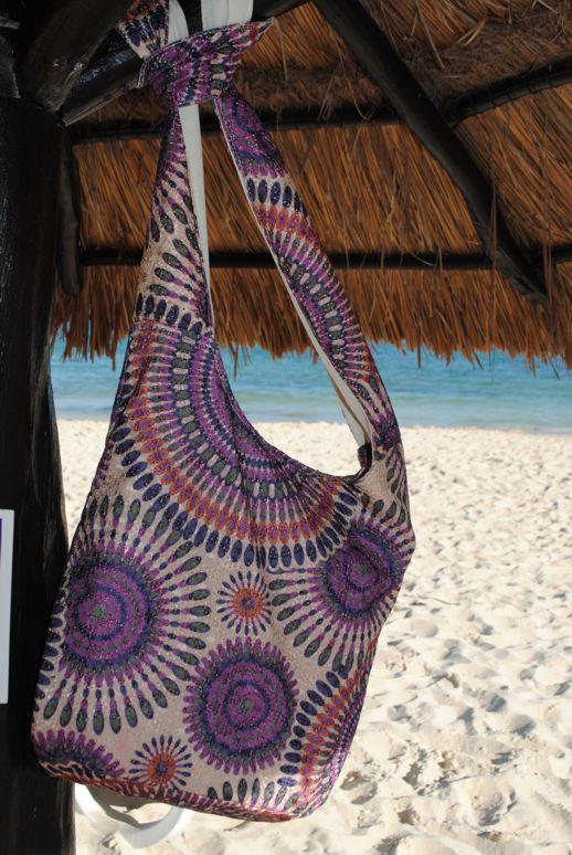 Cancun Crossbody Bag-purple crossbody embroidered geometric print bag