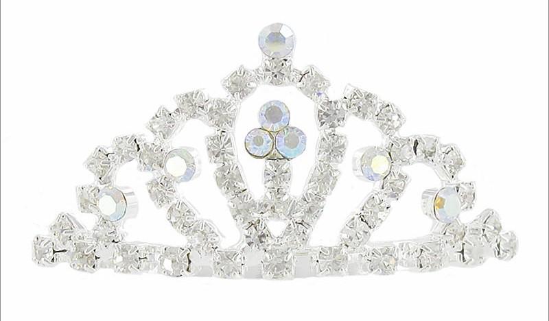 Rhinestone- Small Tiara-Small Rhinestone Tiara, first communion veils, flower girl tiaras