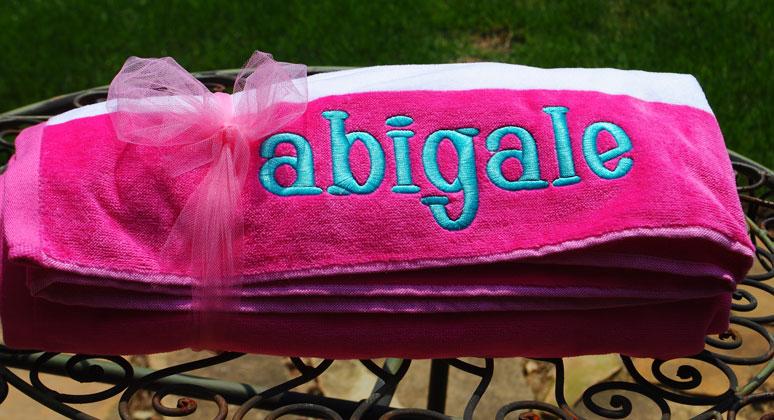 beach towel cabana cabana stripe beach towel - Monogrammed Beach Towels