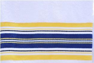 Navy & Yellow Stripes Towel-monogrammed, personalized, bath, towel, gift, ssmonogramgifts