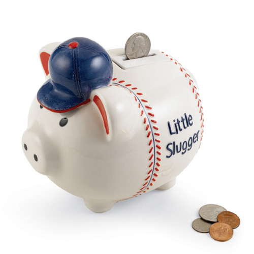 Little Slugger Musical Bank by MudPie-Little Slugger Musical Piggy Bank