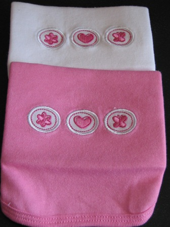 Burp Cloth- circle designs-Great Baby Gift, Monogrammed Burp Cloth