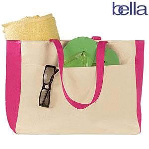 Tote- Bella Beach Bag-monogrammed canvas beach bag