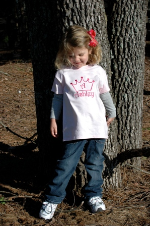 Crown T-Shirt-princess, Tshirt, personalized, monogrammed, crown, initial, applique crown shirt personalized