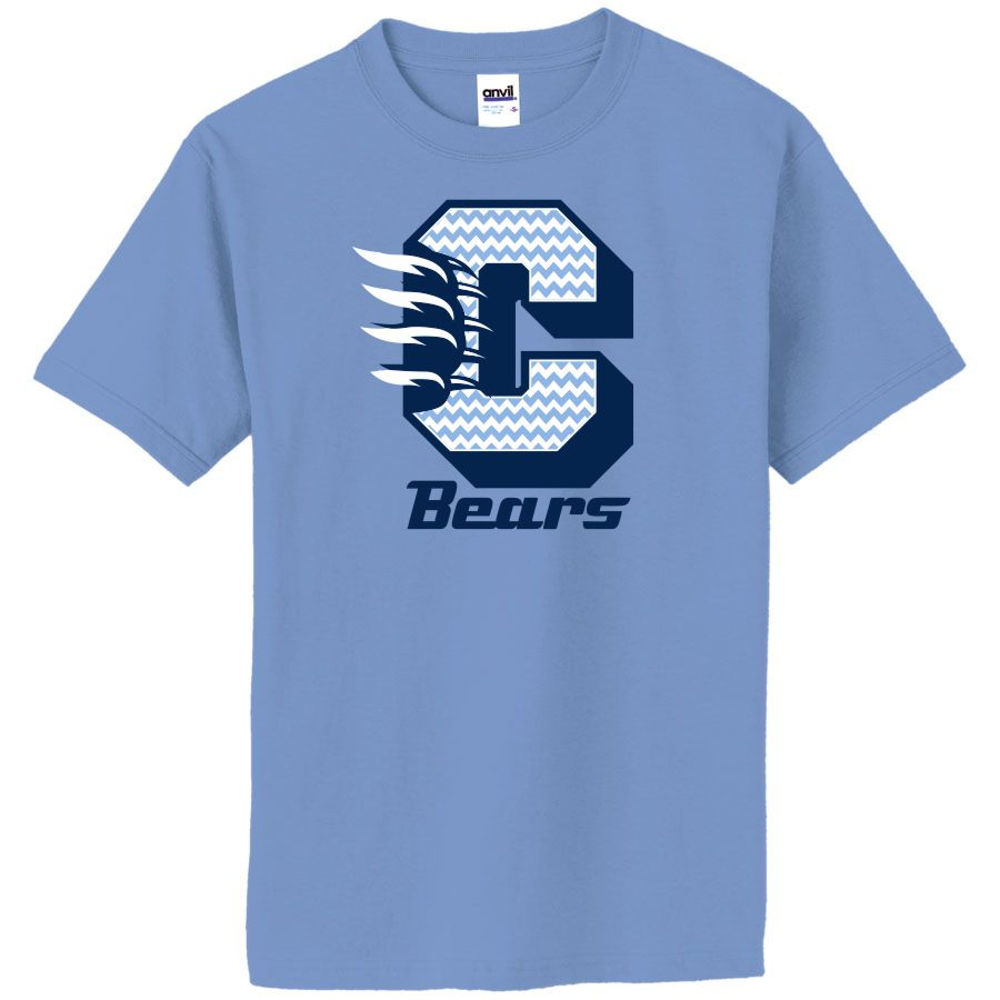 CHS Bears Chevron Spirit Tee-Cambridge High School Spirit Wear