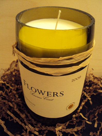 Candle-Flowers Chardonnay – Grapefruit-Wine Bottle Hand Crafted Candles