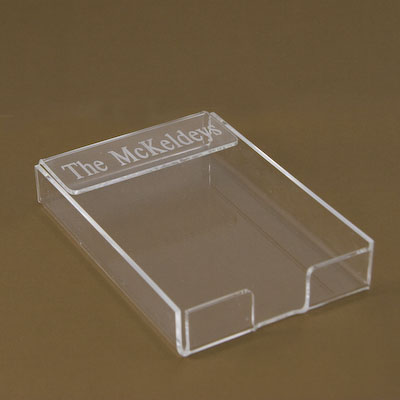 Note Paper Holder-note paper holder engraved acrylic gift items fathers day