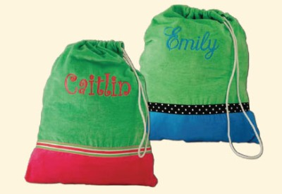 Laundry Bag- Heartstrings-Monogrammed Heartstrings Laundry Bags