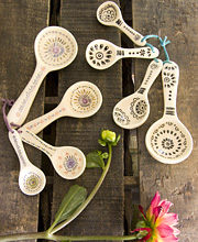 Ceramic Measuring Spoons by Natural Life-Ceramic Measuring Spoons by Natural Life