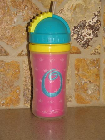 Monogrammed Sippy Straw Cup-monogrammed, sippy, straw, cup, personalized