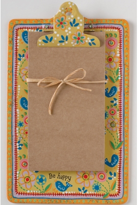 Natural Life Mini Clip Board & notepad-Natural Life Clip Board