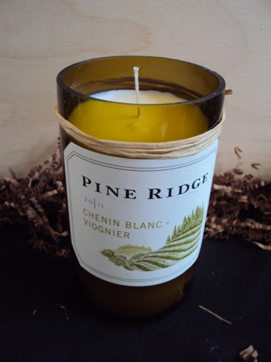 Candle-Pine Ridge Viognier – Birthday Cake-Wine Bottle Hand Crafted Candles