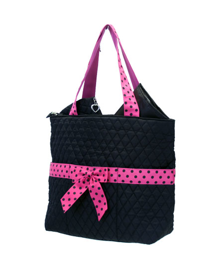 Quilted Diaper Bag- 3 pc set-Monogrammed Quilted 3pc set large diaper bag