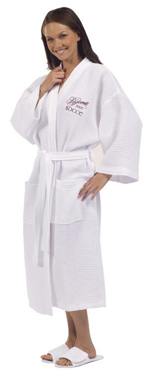 Cotton Waffle Weave Kimono Robe-Cotton, Waffle, Weave, Kimono, monogrammed, personalized, Robes, Spa Made of 100% cotton woven waffle weave fabric.