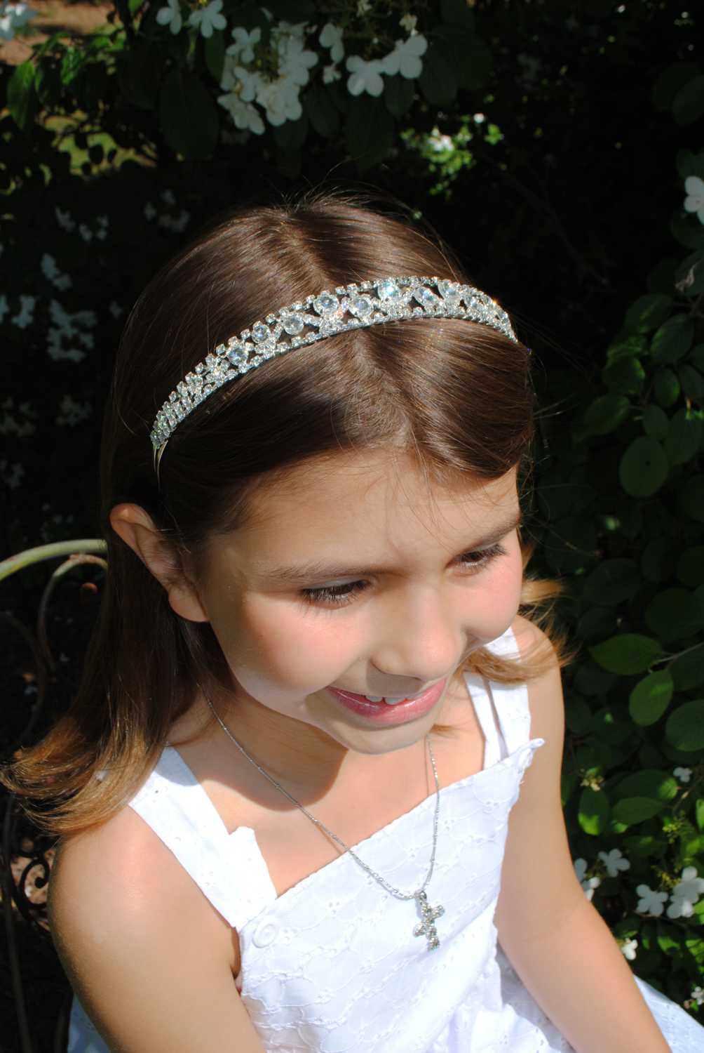 Rhinestone with Crystal Hair Band-Five Line Rhinestone Design Head Band, first communion headbands rhinestone, flower girl rhinestone headbands, Rhinestone with Crystal Hair Band