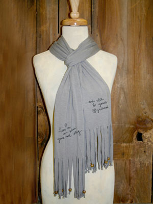 Jersey Fringe Scarf by Natural Life-Jersey Fringe Scarf by Natural Life