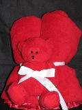 Baby Blanket- Bear & Blanket Snuggle Set-plush monogrammed baby blanket with bear