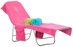 Terry Lounge Cover-Monogrammed Lounge Chair Cover