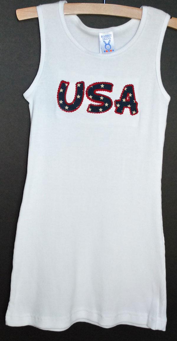 Toddler Tank Dress-ruffle cotton jersey embroidered toddler dress,