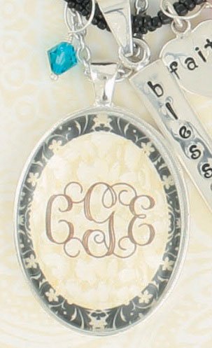 Behind the Glass Pendant-Behind the glass monogrammed pendants by heartstrings