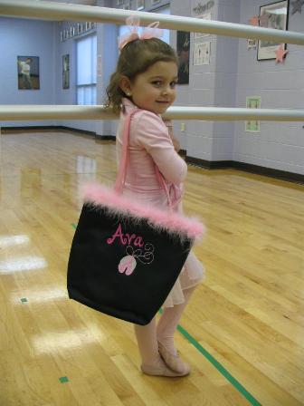 Ballet Bag-Monogrammed Ballet Dance Bag,Personalized Ballet Tote