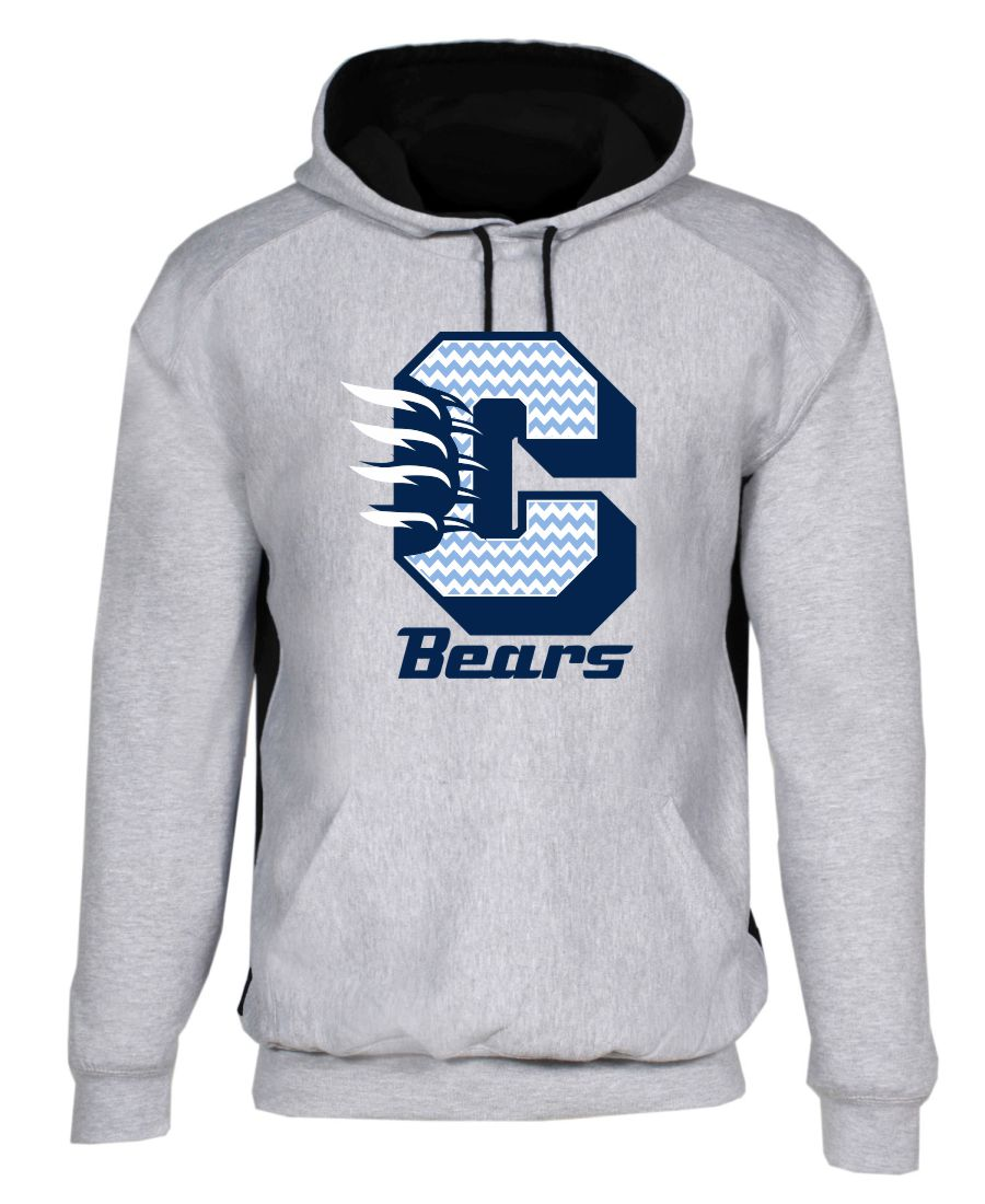 CHS Bears Chevron Colorblock Hood-Cambridge High School Spirit Wear
