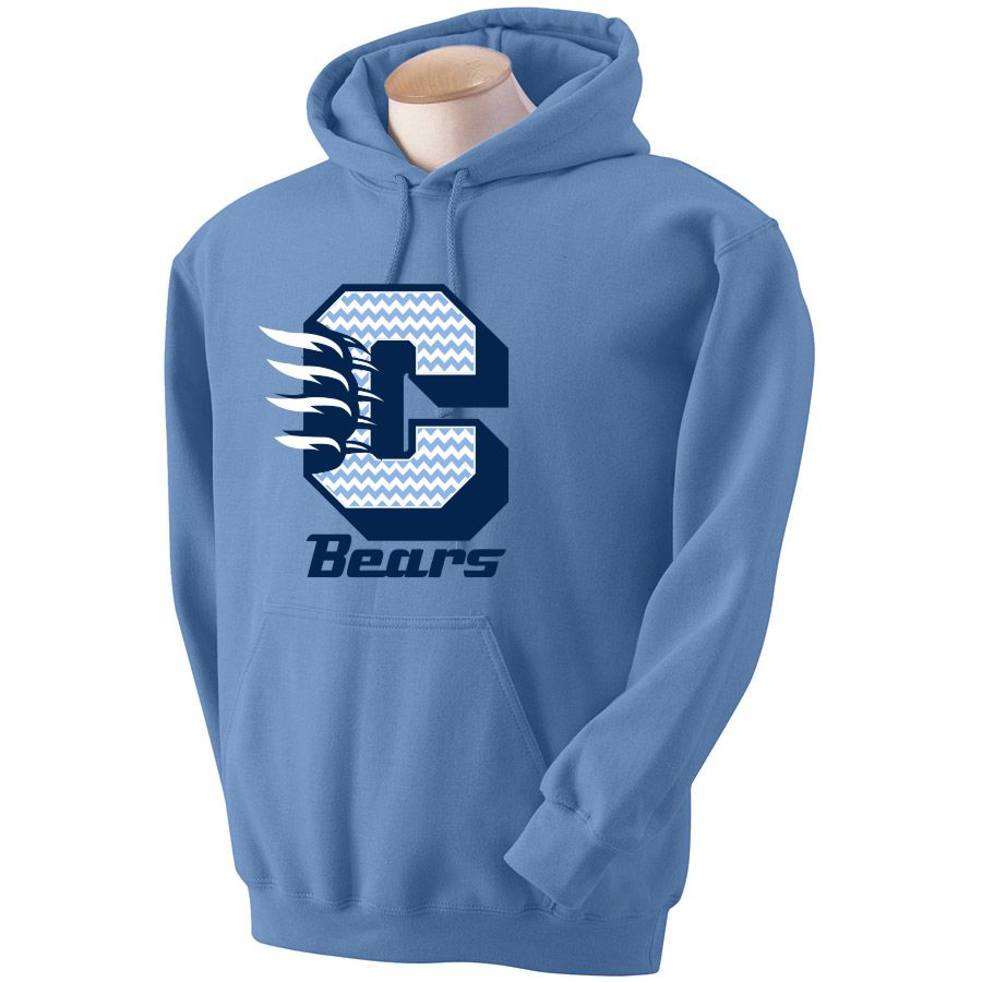 CHS Bears Chevron Spirit Hoodie-Cambridge High School Spirit Wear