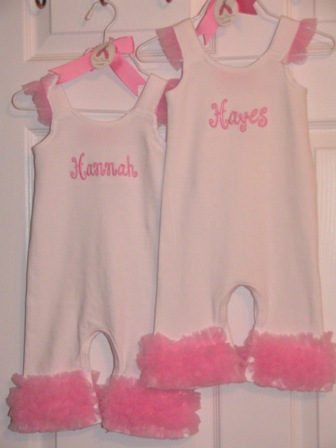 Mud Pie- Romper with chiffon-Monogrammed Boutique Baby Romper