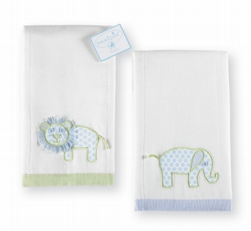 Burp Cloth- Elephant or Lion-Great Baby Gift, Personalized burp cloth