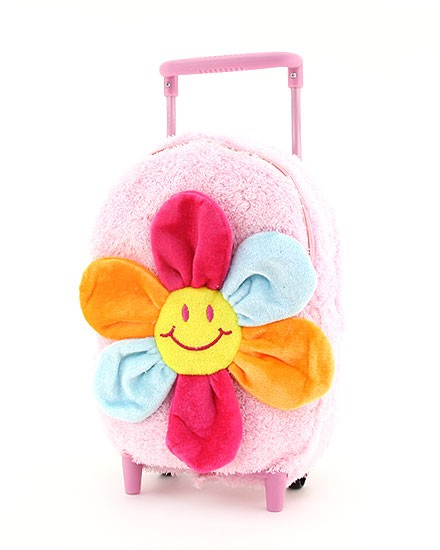 Plush Kids Rolling Backpack-plush roller backpack for kids