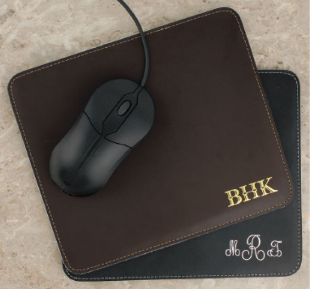 Cowhide Mousepad-Cowhide, monogrammed, leather,  keychain, engraved, father's day gift, monogrammed mousepad, engraved mousepad, personalized