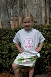 Heart T- Shirt-Monogrammed heart T-shirt