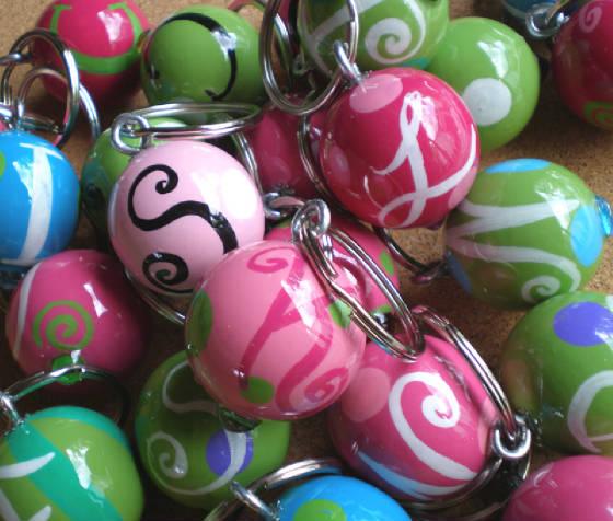 Twist Keyring Key Fobs-Custom Initial MONOGRAMMED Key Fobs by TWIST, Custom Initial MONOGRAMMED Key Fobs, Official Greek Licensed Key Fobs & Word/Name Painted Key Fobs