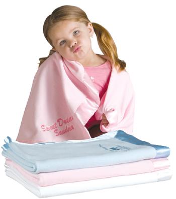 Satin Trim Microfleece Baby Blanket-monogrammed, personalized, baby, blanket, gift, ssmonogramgifts