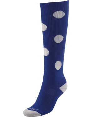 Zany Polka Dot Softball Socks-crazy,zany,fun,wild,krazy softball socks