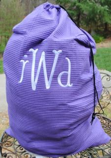 Laundry Bag- Waffle Weave-Monogrammed Laundry Bags, personalized laundry bags monogrammed