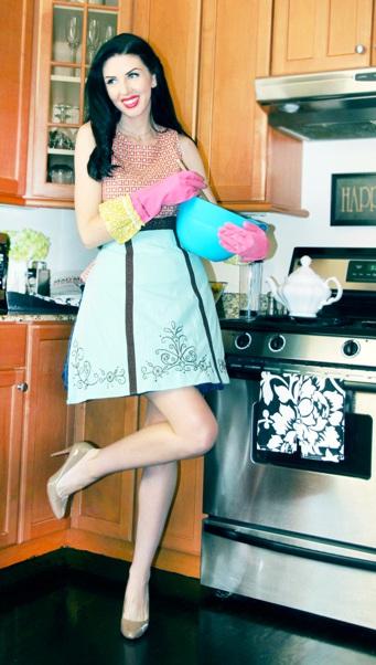 Frilly Dish Gloves-Natural life dish gloves