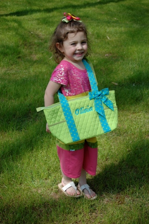 Quilted Bucket Tote-Monogrammed Bucket Tote