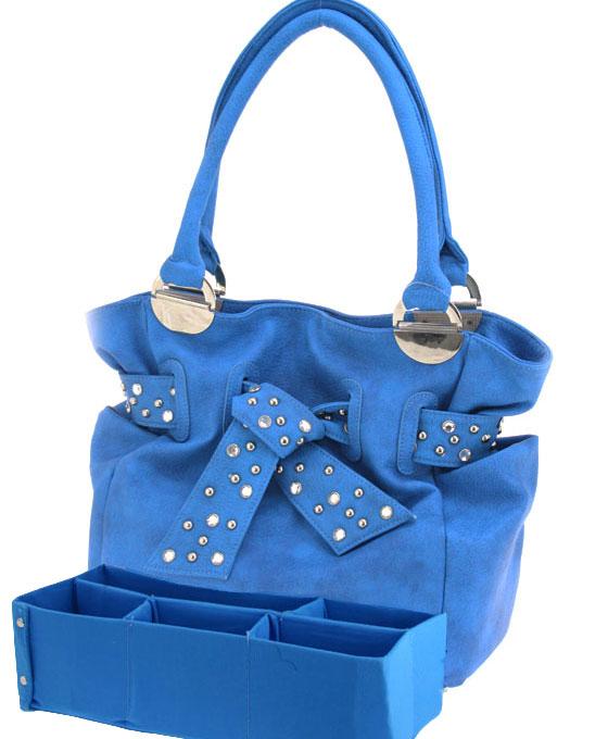 Handbag- Olivia  with organizer-Couture handbag with organizer insert monogrammed, organizer handbags, organizer purses, monogrammed organizer purse handbag
